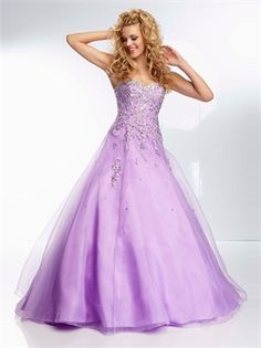 Ball Gown Strapless Sweetheart Beadings Lace Up Tulle Prom Dress PD2743 www.simpledresses.co.uk £130.0000