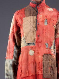 jacket, in the boro style, created using sashiko stitching technique. Very interesting. nativesarerestless : Kapital: