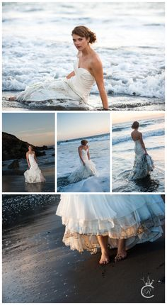 Kate • Carrie Richards Photography • Trash the Dress • Trash the dress at Muir Beach, Ca
