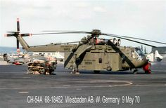 "CH-54 Tarhe. This is the turbine engine powered crane. It had two P&W JT12D engines. The ""A"" model could lift 10 tons, and the ""B"" model (double wheeled landing gear) could lift 12.5 tons."