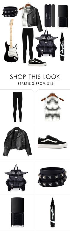 """""""That's not so punk rock of you"""" by violenceinsilence ❤ liked on Polyvore featuring Emilio Pucci, Acne Studios, Vans, Valentino, NARS Cosmetics, Maybelline and MAC Cosmetics"""