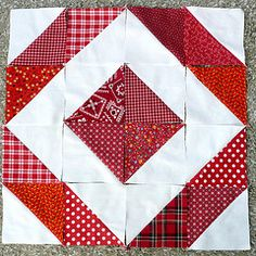 Half Square Triangle Quilt Blocks - many different layouts