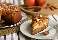 Spiced Apple Cream Cheese Coffee Cake, a luscious combo of apple pie, cheesecake and coffee cake via Scientifically Sweet