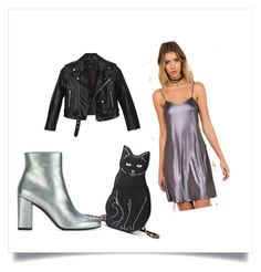 """I don't care"" by syagley on Polyvore featuring Motel, Nasty Gal, Yves Saint Laurent, goingout, punkchic, catlady and holosexual"