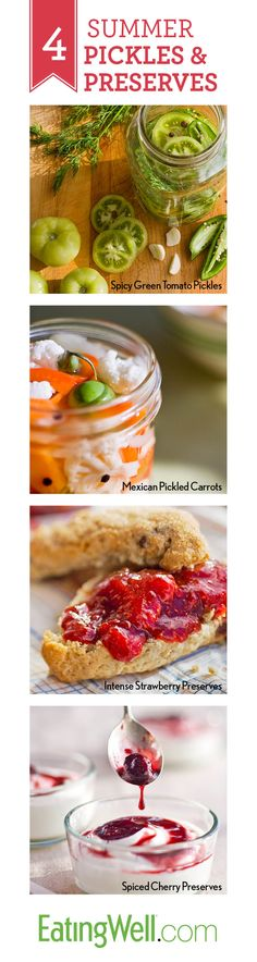 Recipes for Summer Pickles and Preserves - 21 more recipes on the website!