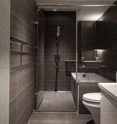 Awesome 35 Surprising Bathroom Tub Shower Combo Remodeling Ideas To Copy Bathroom Tub Shower, Modern Bathroom Tile, Modern Bathroom Design, Bathroom Interior Design, Bathroom Layout, Bathroom Ideas, Bathroom Remodeling, Bathroom Organization, Remodel Bathroom