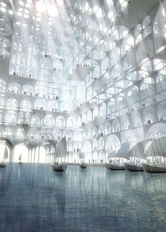 Architecture is everywhere. Renderings of Souk Mirage / Particles of Light Commercial Building Complex © Sou Fujimoto Architects, 2013