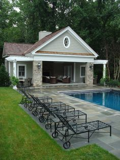 another pool house idea...?----basically a shaded in seating area, protect seats from stormy nights and protect skin from sun