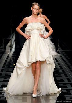 Romantic ruffle  wedding dresses -- Carlo Pignatelli 2010 Opere couture bridal gown  collection