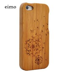 #cover #phone eimolife(TM) Natural Handmade hard wood Bamboo Case Cover for iphone 5 with free screen protector(dandelion) | BEST ELECTRONIC ACCESSORIES
