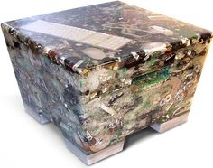 N+ew Stool - compacted trash plus resin