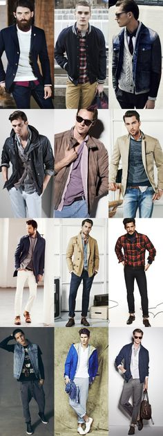 Men's Multiple Layering Lookbook