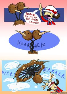 Pokemon Comic duduo used fly