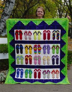 I found the flip-flop pattern in the May/June 2008 issue of Love of Quilting, and knew it would make a great Christmas present for my granddaughter. It was a joy hunting for flip-flop material; and it was a hit at Christmas! I get so much inspiration to make new projects from your magazine.