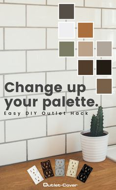 DIY Color Update for Home Outlets Wall Paint Colors, Interior Paint Colors, Outlet Covers, Cool Diy Projects, Outlets, Color Schemes, Easy Diy, Household, Bathroom