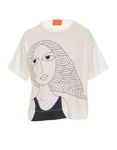 T-shirt Girl Off White Etoiles