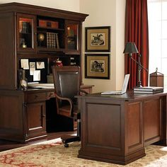Shop For The Bassett Louis Philippe Desk Hutch Office At AHFA
