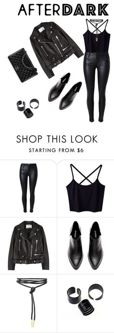 """BLACK"" by sandra-jamakovic ❤ liked on Polyvore featuring Acne Studios and Chanel"