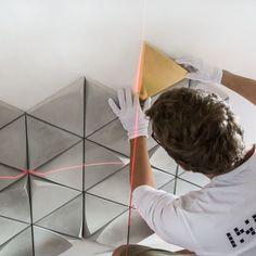 Installation of concrete tiles TRIGON by Inexart. Concrete Tiles, Concrete Roof Tiles