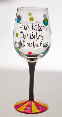 Handpainted Wine Glass