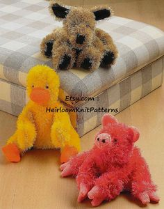 Vintage Baby Toy Knitting Pattern 3 by HeirloomKnitPatterns