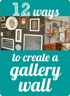 Six Sisters' Stuff: Picture Gallery Wall Tutorial Up House, Inspiration Wall, Photo Displays, Decorating Tips, Home Projects, Diy Home Decor, Home Improvement, Sweet Home, Open Minded