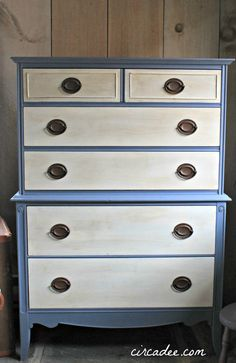 Two toned dresser in ASCP Old White & Old Violet