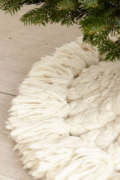 Snow Angel Tree Skirt - anthropologie.com......can't afford but maybe I could make this: