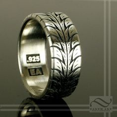 Hey, I found this really awesome Etsy listing at https://www.etsy.com/listing/157503368/low-profile-tire-tread-ring-sterling