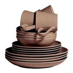 Gordon Ramsay by Royal Doulton Maze Taupe 16-piece Dinnerware Set - 75 Pounds