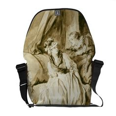 The Letter (Spanish Conversation) by Fragonard Courier Bag