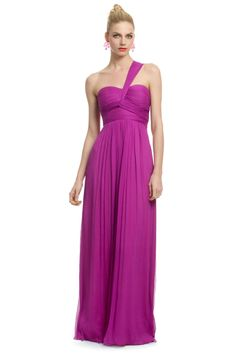 Carlos Miele Magenta Orchid Gown- love this in a softer color for the wedding