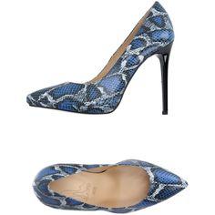 Le Stelle Pump ($116) ❤ liked on Polyvore featuring shoes, pumps, blue, blue stilettos, blue shoes, snake skin pumps, blue snakeskin pumps and heels stilettos