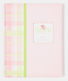 Take a look at this Pink Sweet Tweets Record Book by pepper pot on #zulily today!