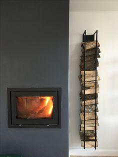 Firewood wall rack!
