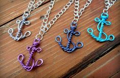 anchor wire pendant - cute