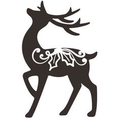 This design is intended to be cut with an electronic cutting machine. Christmas Deer, Christmas Clipart, Christmas Crafts, Reindeer Decorations, Outdoor Christmas Decorations, Cute Diary, Christmas Stencils, Quilting Stencils, Clipart Black And White