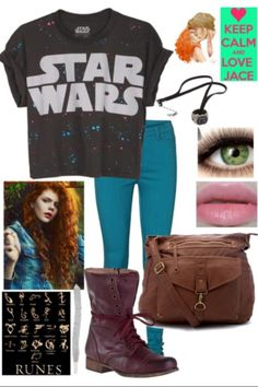 Because I'm obsessed with the mortal instruments, I made a clary Inspired outfit!(;