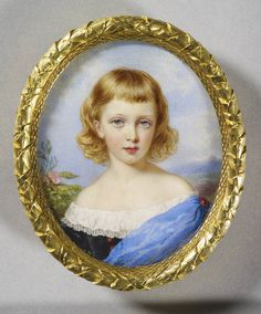Sir William Ross Prince Alfred later Duke of Edinburgh and Saxe-Coburg-Gotha, Watercolour on ivory laid on the original backing card, x cm (support, canvas/panel/str external). RCIN Royal Collection Trust/© Her Majesty Queen Elizabeth II 2015 Queen Victoria Children, Queen Victoria Prince Albert, Victoria And Albert, King George V, Miniature Portraits, Miniature Paintings, Royal Collection Trust, Queen Mary, Queen Elizabeth