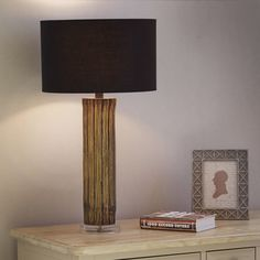 Piper Natural Dark Wash Bamboo Table Lamp primary image