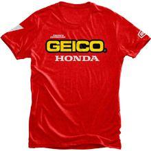 ed83387a7 100% Geico Honda Standard Red Tee Shirt