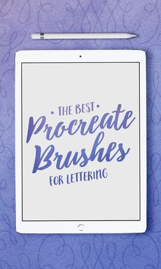 If you want to collect some awesome brushes for your Procreate app to make new h - ipad - Ideas of ipad - If you want to collect some awesome brushes for your Procreate app to make new hand-lettered fonts check out these outstanding brushes. Tittle Ideas, Ipad Pro Apps, Best Procreate Brushes, Adobe Illustrator, Affinity Designer, Ipad Art, Lettering Tutorial, Web Design, Graphic Design