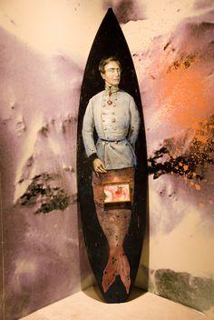 "Philip Mueller ""Franzl am See on surfboard, 2015 202 x 52 cm Carbon Gallery, Dubai Art Fair, Vienna, Surfboard, Dubai, Contemporary Art, Batman, Concept, Oil, Gallery"