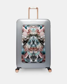 Mirrored Minerals large suitcase - Mid Grey | Bags | Ted Baker UK