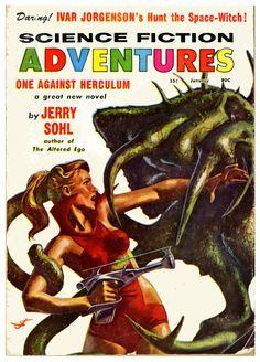 John Schoenherr: Science Fiction Adventures, Jan.1958