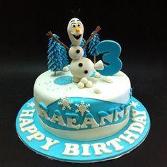 Fondant 3D Disney Frozen Olaf - Fondant Cakes - Johor Bahru ...
