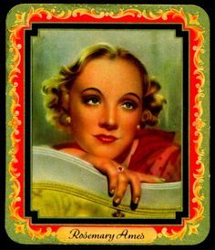 Cigarette Cards | Cigarette Card - Rosemary Ames | Flickr - Photo Sharing!