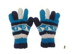 Hands Knitted Multicolored Woolen Gloves