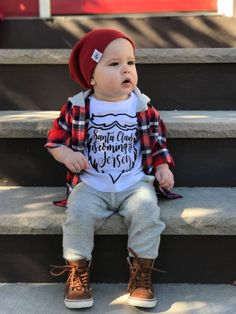 Santa Beard Christmas Clothes for Kid Baby by LittleGrungeClothing