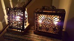 Glow of History - repurposed antique cast iron heating grate, vintage lighting, handmade metalwork - one of a kind lighting by Jack Riley Lighting and Metalwork